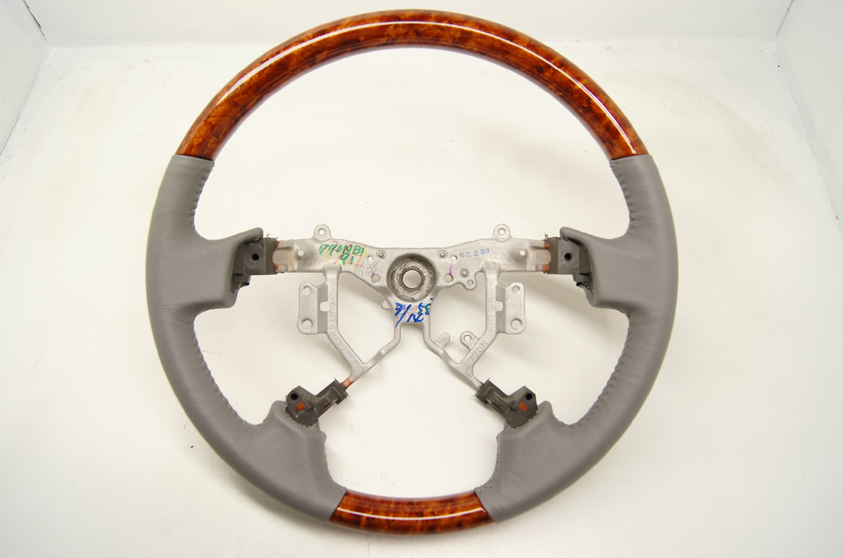 2005 2010 Toyota Avalon Steering Wheel Grey Leather With