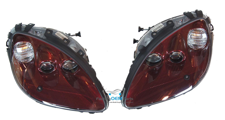 05 07 corvette c6 monterey red headlight head light lamp. Black Bedroom Furniture Sets. Home Design Ideas
