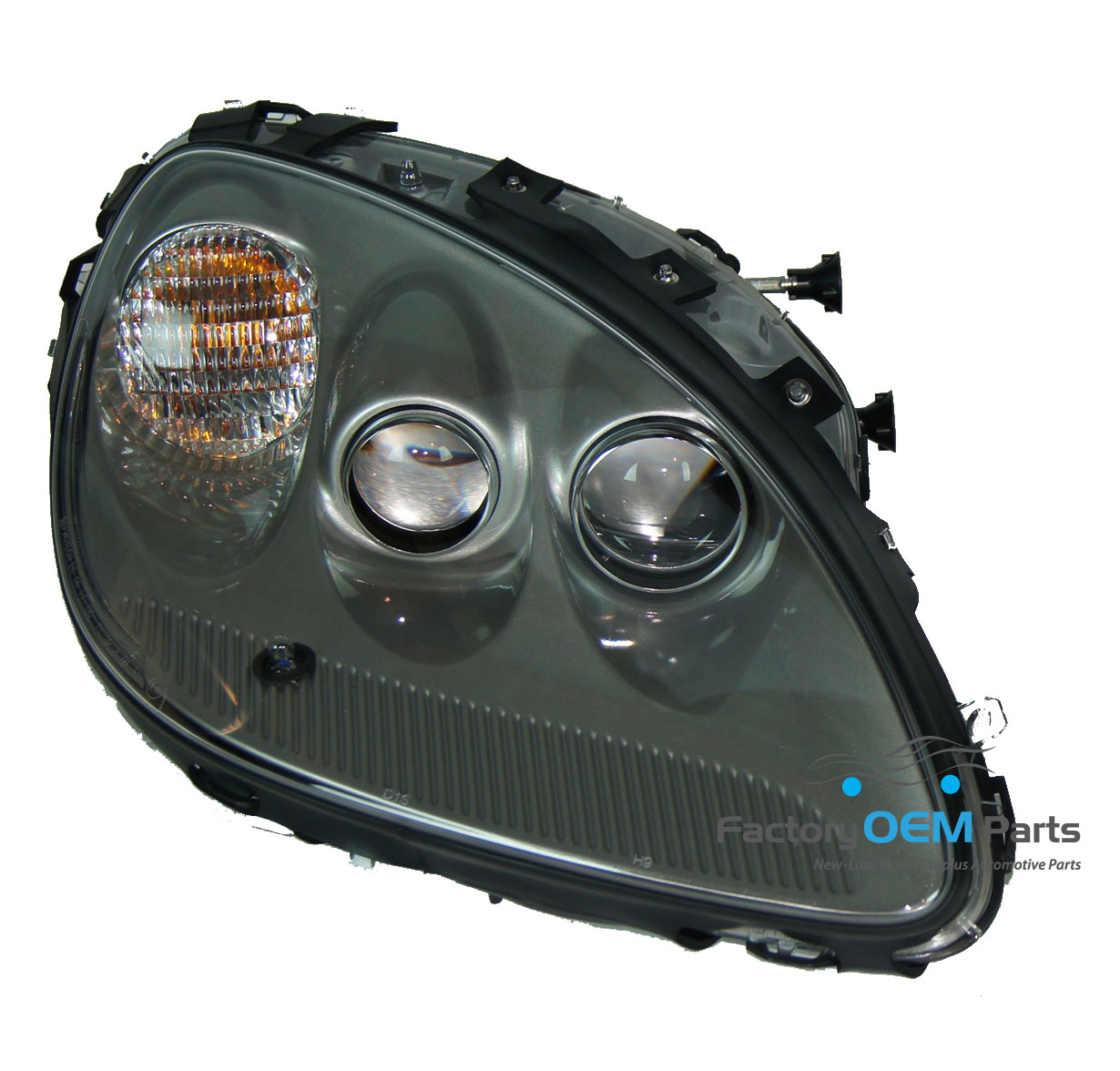 05 08 corvette rh passenger side c6 silver headlight head. Black Bedroom Furniture Sets. Home Design Ideas